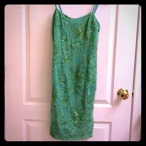 Lilly Pulitzer - Green Dress with Sequin Detail